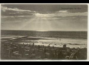 z6770/ Borkum Sonnenuntergang bei Ebbe AK 1906