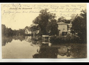 z6446/ Stralsund Am Knieperteich AK 1925