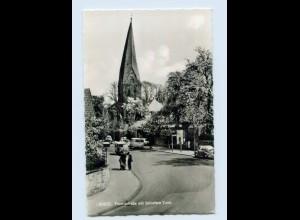 X1O34/ Soest Thomästraße mit schiefem Turm AK