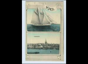 P2R21/ Kiel Segelschiff schöne AK 1912