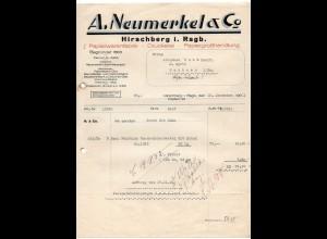 c839/ Rechnung A. Neumerkel & Co. Hirschberg Schlesien Papierwarenfabrik 1931