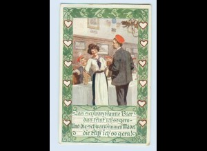 W9T94/ Bund der Deutschen in Niederösterreich AK Studenten Studentika 1913
