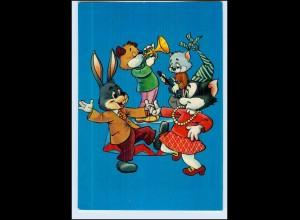 P2S16/ Menschliche Tiere - Hase und Maus tanzen schöne Krüger AK ca.1965