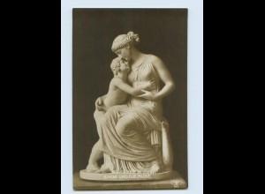 H153/ Skulpturen Foto AK Amor und die Muse ca.1912