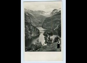 W9V80/ Norwegen Foto AK + Schiffspost Monte Sarmiento 1936