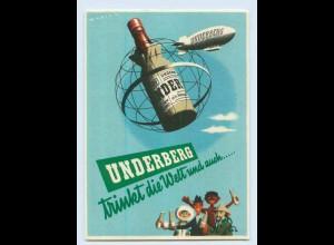 C425/ Underberg Reklame AK Zeppelin Luftschiff D-Lavo Österreich-Fahrt 1958+ SST