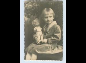 M291/ Mädchen mit Puppe schönes Foto 1926