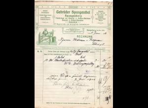 c848/ Rechnung Gebr. Spangenthal, Spangenberg Brauerei Kellerei-Utensilien 1916