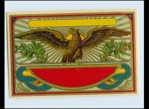 W9N24/ Tee Etikette Litho ca.1930 Adler