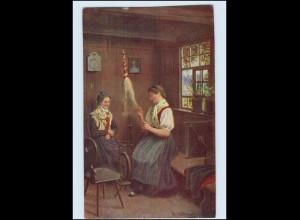 A7607/ Schwarzwald Künstler alte AK H. Hoffmann Verlag: Edm. v. König Spinnen