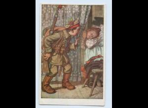 H333/ Hessische Trachten Künstler AK Nr. 31, Kinder als Soldaten 1. Weltkrieg