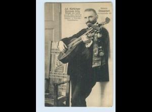 W9K84/ Jul. Körtzinger mit Doppelkopf-Gitarre Düsseldorf AK ca.1912