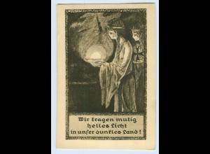 """W9M89/ Religion AK """"Wir tragen mutig helles Licht in.... ca.1935"""