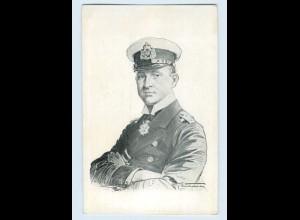 G755/ Kapitänleutnant Weddigen Wohlfahrtskarte AK ca.1915