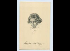 W9R57/ Beethoven schöne Stengel AK ca.1912