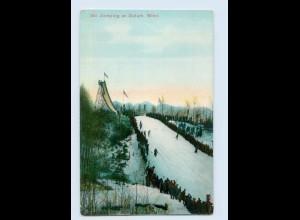 W9Y11/ Ski Jumping at Duluth, Minn. USA Skispringen ca.1912 AK