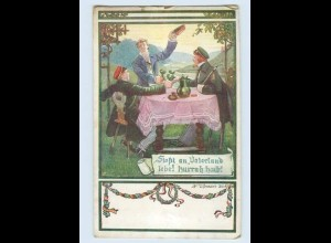 W9E05/ Deutscher Weltbund Studenten Studentika Künstler AK ca.1914