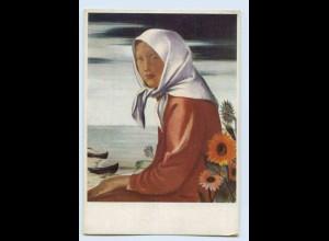 W9O11/ Künstler Hilfswerk 1937 Kurisches Mädchen Kurland AK