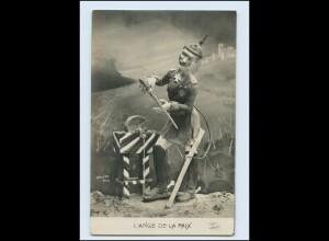 W8Y14/ L`Ange de la Paix Kaiser Wilhelm Skulptur Wallery Paris Foto ca.1915