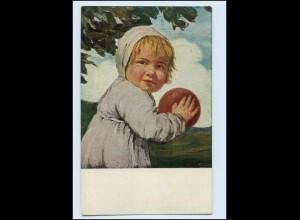 "W8V72/ ""Jugend"" Postkarte Zumbusch KInd mit Ball AK 1917"