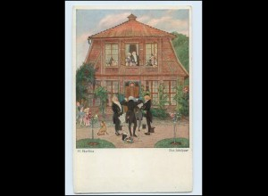 W8X22/ H. Skarbina Das Jubelpaar, Männer singen Künstler Primus AK ca.1920
