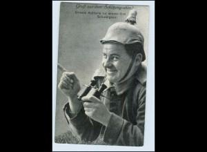 W8L54/ Soldat mit Fernglas AK 1. Weltkrieg 1915
