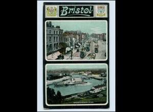 W8Q69/ Bristol Straßenbahn Hafen AK 1908