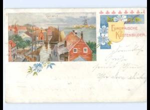 A9385/ Europäische Küstenbilder Holland Niederlande AK 1903