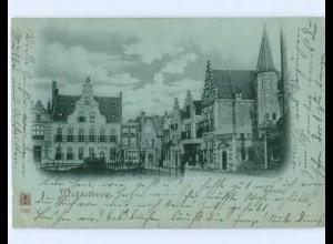 A9386/ Middelburg Balanz Mondschein AK 1901 Niederlande