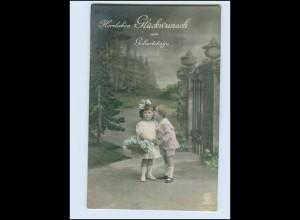 W8L35/ Geburtstag kleine Kinder Foto AK 1919