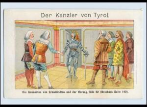 W8N06/ Tyroler Kanzler Feigen-Kaffee Nota Rechnung Litho ca.1910