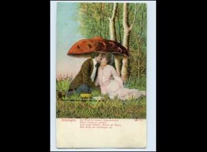 W8L39/ Glückspilz Pilz AK 1906