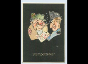 """W8J47/ Bergbau Humor AK Stempelzähler - """"Lustige Gezähekiste"""" ca.1955"""
