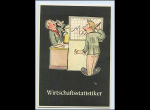 """W8J43/ Bergbau Humor AK Wirtschaftsstatistiker - """"Lustige Gezähekiste"""" ca.1955"""