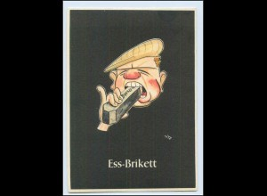 "W8J64/ Bergbau Humor AK Ess-Brikett - ""Lustige Gezähekiste"" ca.1955"