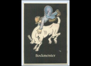 "W8J66/ Bergbau Humor AK Bockmeister - ""Lustige Gezähekiste"" ca.1955"