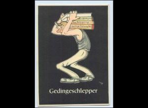 "W8J38/ Bergbau Humor AK Gedingeschlepper - ""Lustige Gezähekiste"" ca.1955"