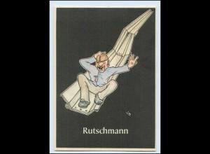 "W8J65/ Bergbau Humor AK Rutschmann - ""Lustige Gezähekiste"" ca.1955"