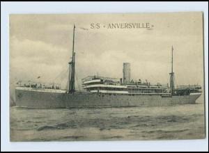 W8J88/ Dampferr S/S Anversville AK 1921 Belgien