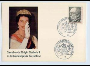 W8A19/ König Elisabeth Staatsbesuch in Deutschland 1965