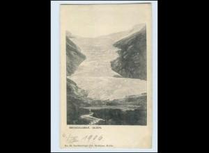 W8B22/ Brigsdalsbrae Olden Gletscher Norwegen AK 1906