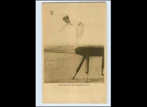 W8B57/ Deutsche Turnerschaft AK Turnen am Pferd AK ca.1920