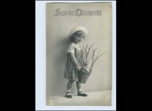 W8A24/ Ostern hübsches Mädchen Foto AK 1917