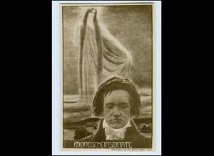 W7X22/ Beethoven - Mondscheinsonate tolle Foto AK ca.1920