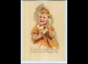W7Q92/ Mädchen mit Telefon schöne Künstler AK 1942