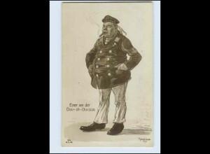 W7U98/ Marine Baudivision Humor Künstler AK Bernhard 1916