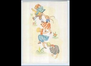W7Q84/ Popp Kunstkarte AK Kinder ca.1955