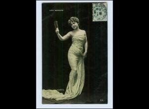 W7P79/ Lucy Bernard mit Handspiegel schöne Stebbing Foto AK 1906