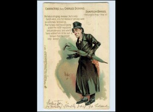 W7K87/ Characters from Charles Dickens - Litho AK Tuck`s AK 1903