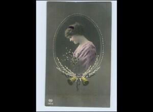 W7P98/ Ostern hübsche Frau Foto AK ca.1912